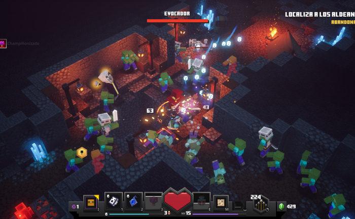 Minecraft Dungeons reunio a 1,8 millones de jugadores en poco mas de una semana tras su estreno