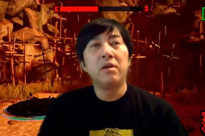 Suda51 oculta con su cuerpo el primer video de jugabilidad de No More Heroes 3