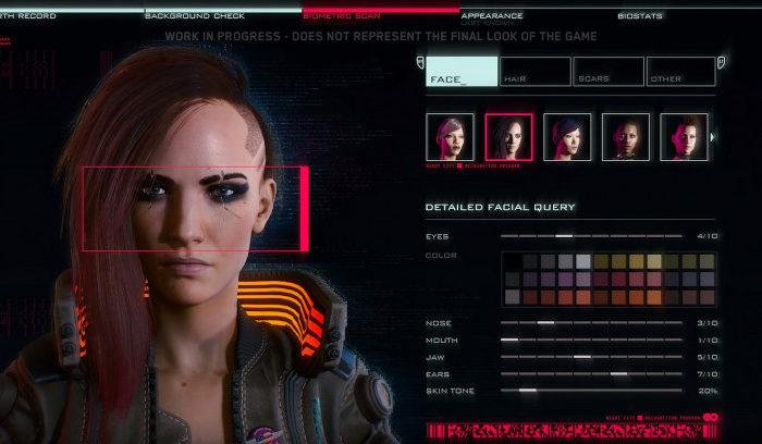 Cyberpunk 2077 y su editor de personajes: todas las opciones para personalizar a V