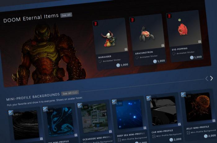 Steam perfecciona los perfiles de usuario y añade una tienda permanente de objetos de personalizacion
