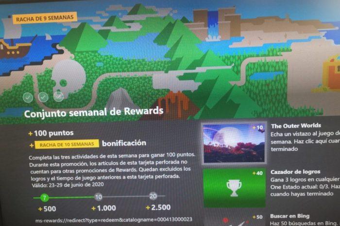 Tareas semanales de Microsoft Rewards 23/06 - 30/06 de 2020