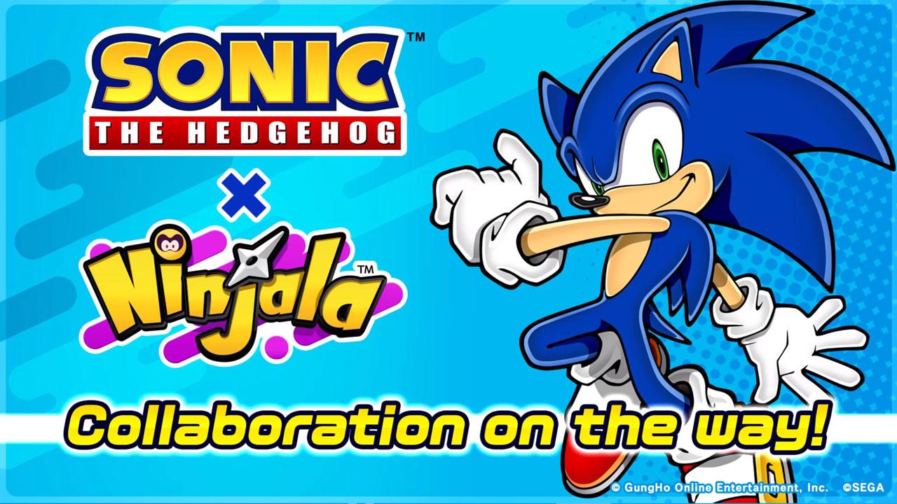 Ninjala anuncia una colaboracion con Sonic The Hedgehog