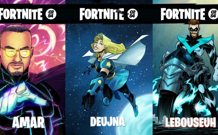 Jugadores famosos de Fortnite se transforman en superheroes de comic gracias al dibujante Loulogio
